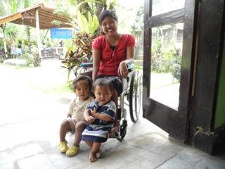 Ayu and some children at Senang Hati in Bali