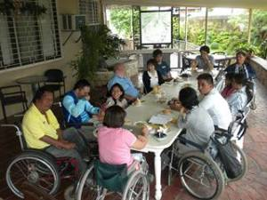 meeting with PWD in Cebu セブ島障がい者とのミーティング