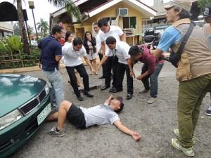 事故のシーン